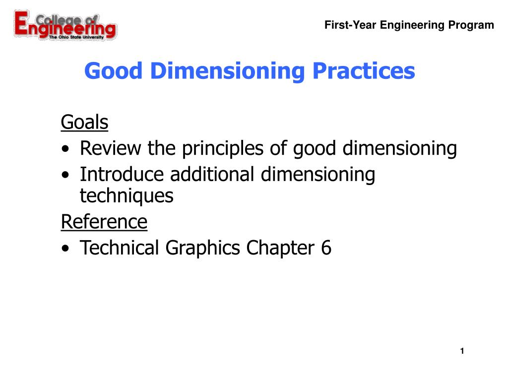 good dimensioning practices l.