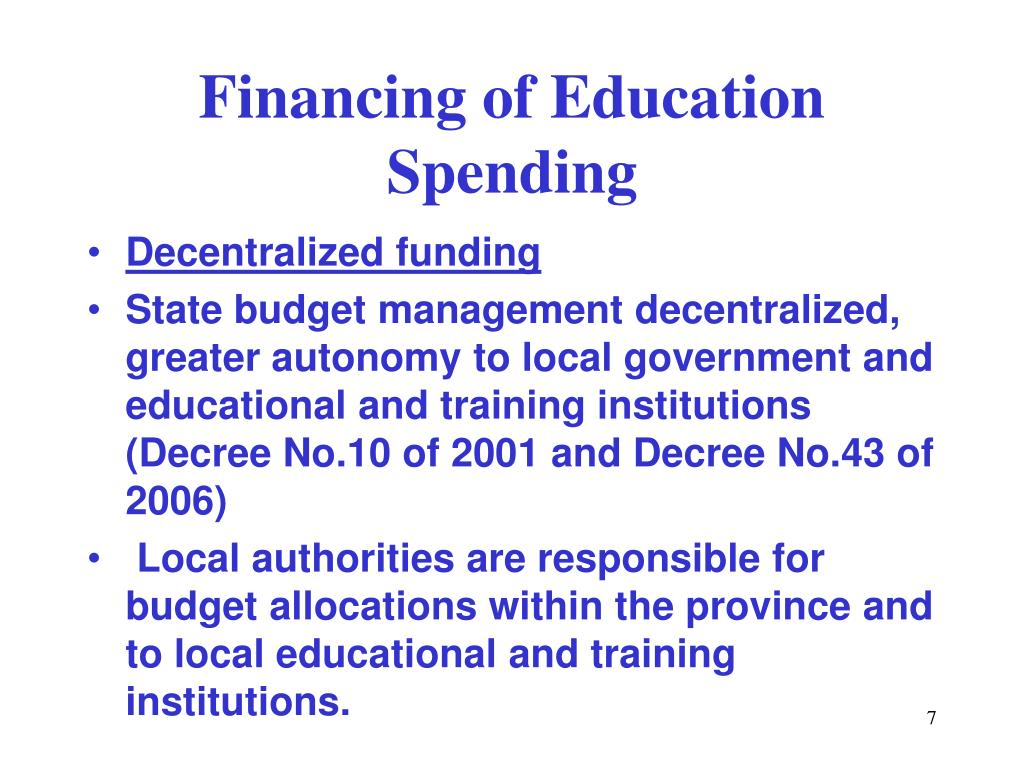 Financing of Education Spending