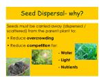 seed dispersal why