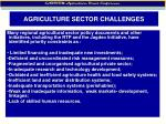 agriculture sector challenges