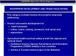 enterprise development and trade facilitation