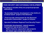 food security and sustainable development