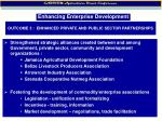 outcome 3 enhanced private and public sector partnerships