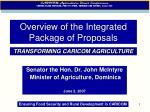 overview of the integrated package of proposals