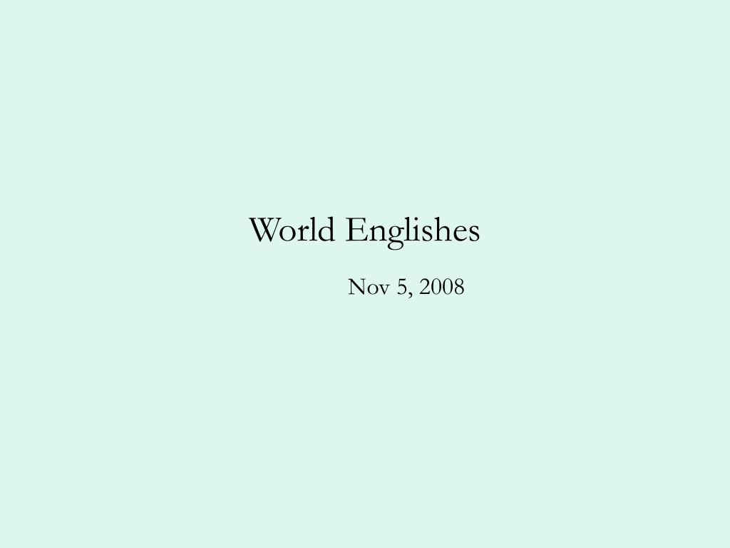 world englishes l.
