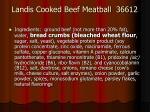 landis cooked beef meatball 36612