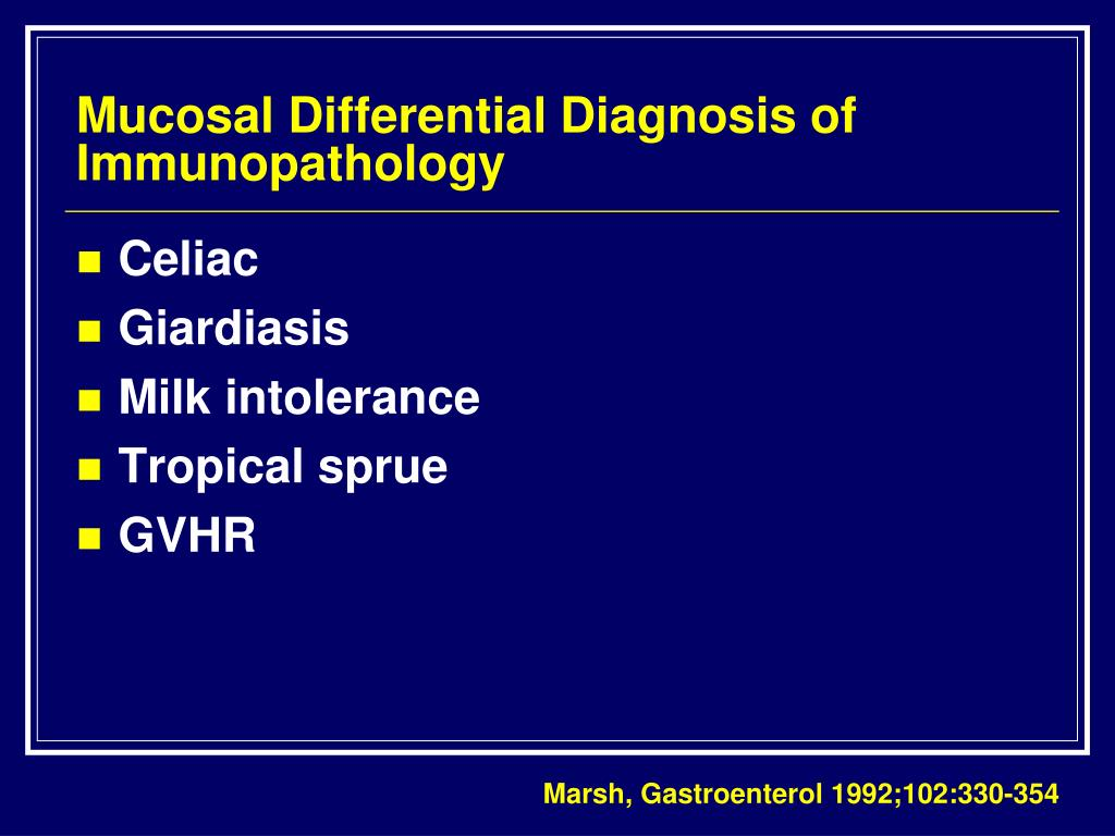 Mucosal Differential Diagnosis of Immunopathology