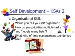 self development ksas 2