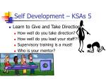 self development ksas 5