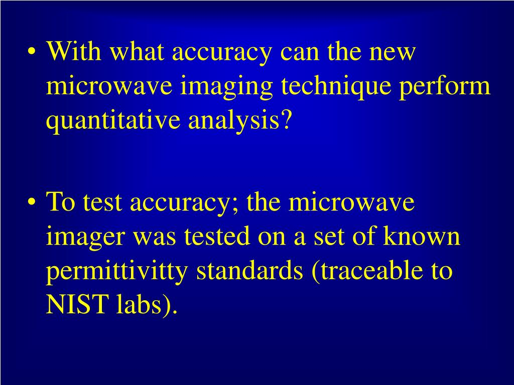 With what accuracy can the new microwave imaging technique perform quantitative analysis?