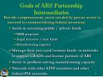 goals of ars partnership intermediaries18