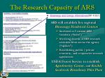 the research capacity of ars26