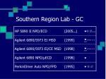 southern region lab gc
