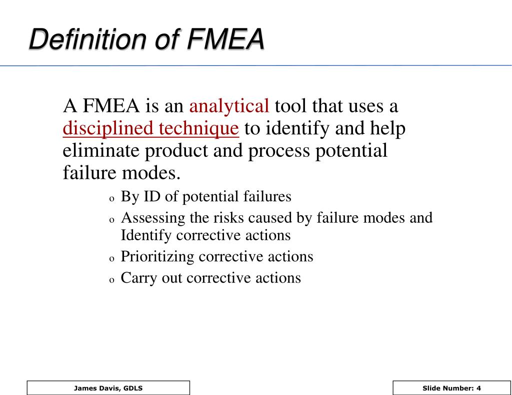 PPT - PFMEA Process Failure Mode and Effects Analysis