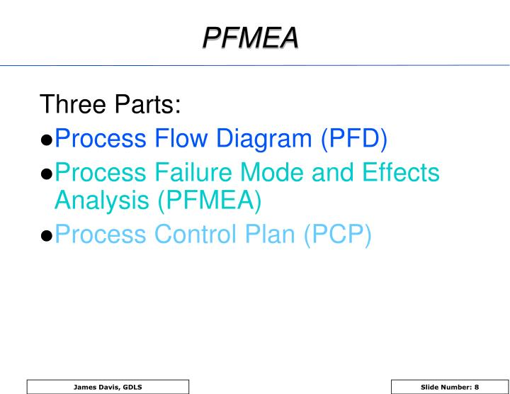 process failure mode and effect analysis