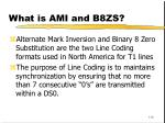 what is ami and b8zs