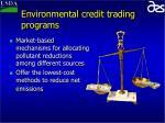 environmental credit trading programs