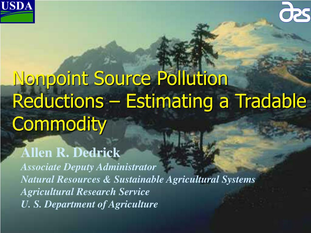 nonpoint source pollution reductions estimating a tradable commodity l.