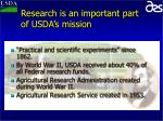 research is an important part of usda s mission