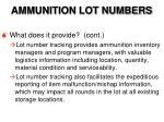 ammunition lot numbers5