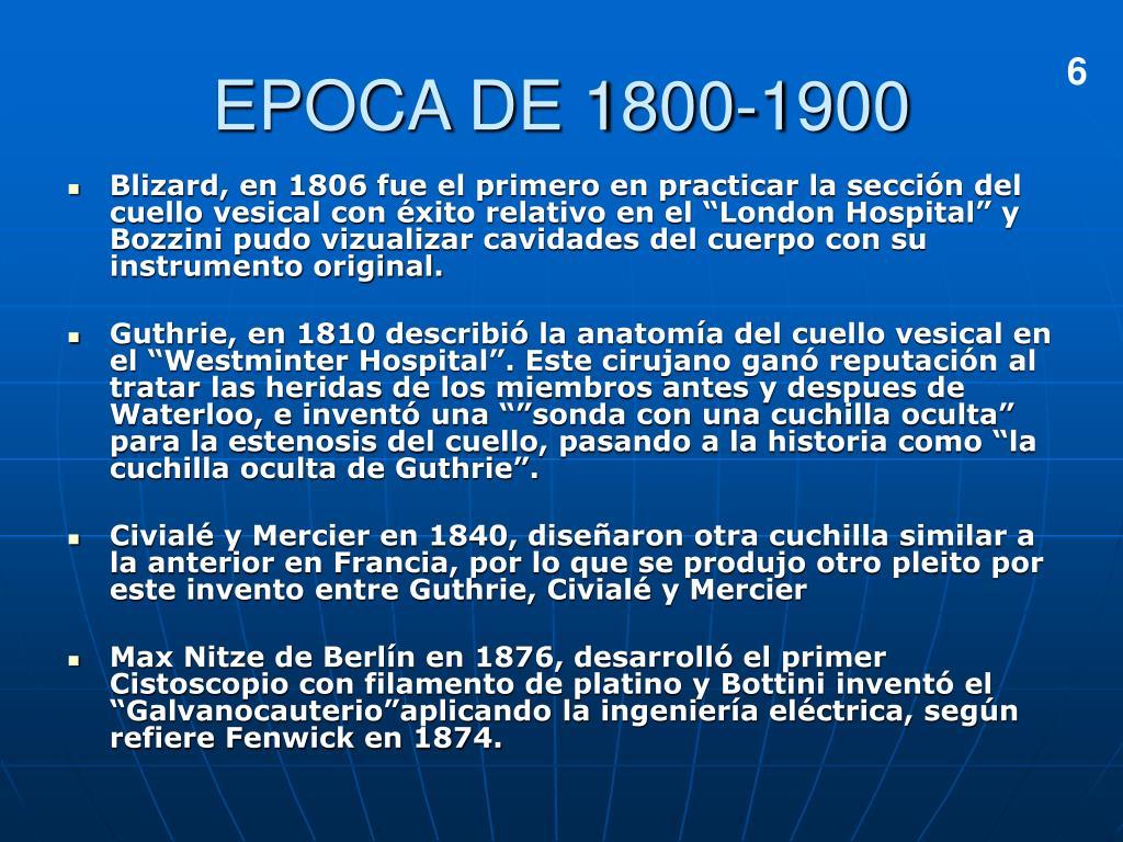EPOCA DE 1800-1900