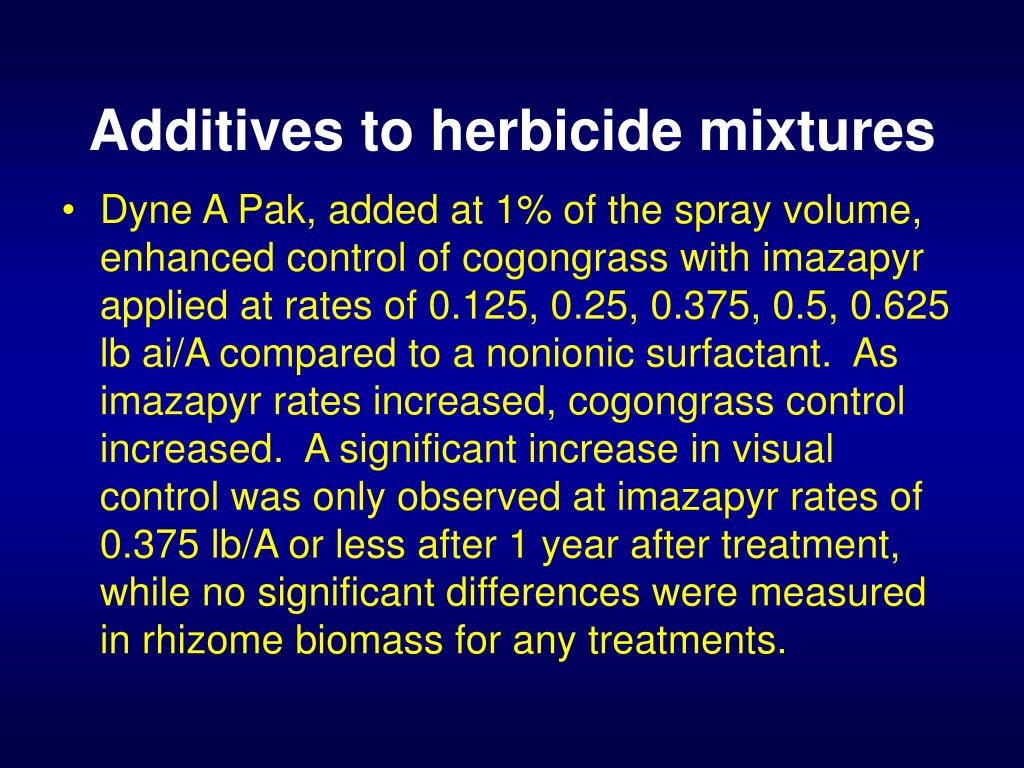 Additives to herbicide mixtures