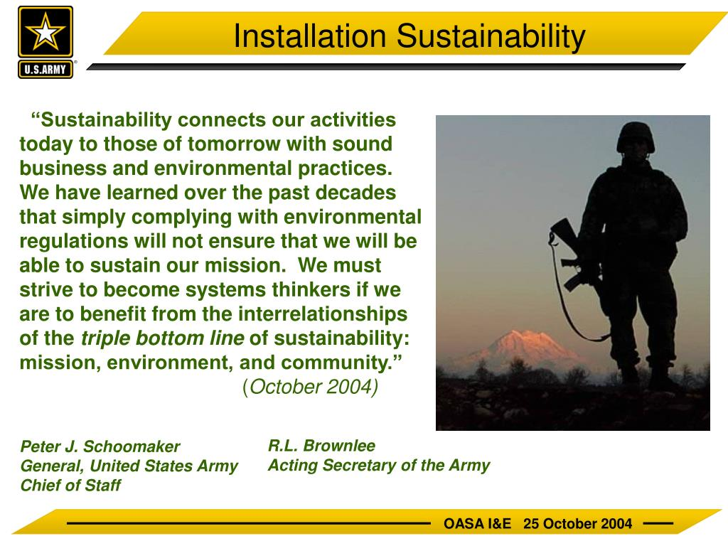 Installation Sustainability