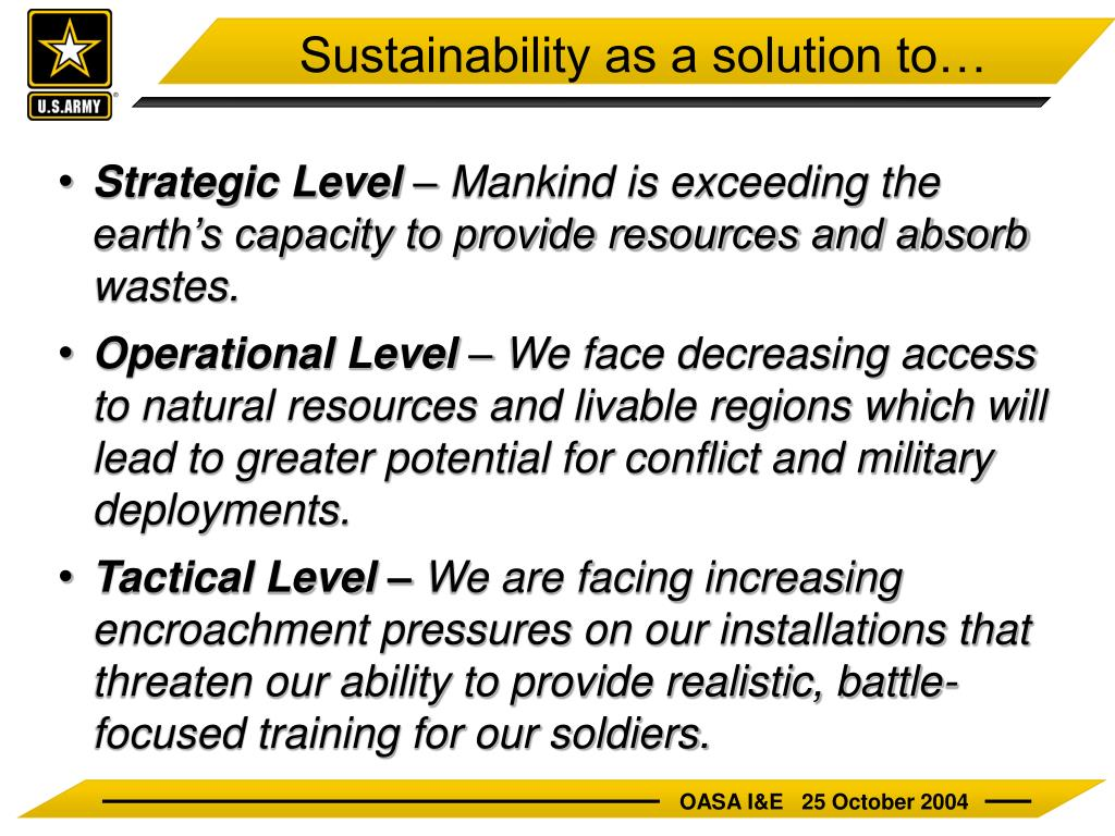 Sustainability as a solution to…