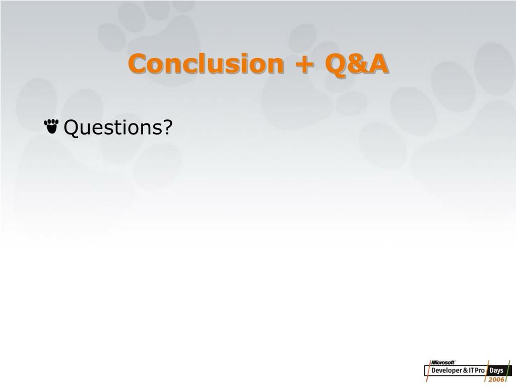 Conclusion + Q&A