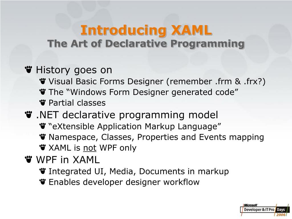 Introducing XAML