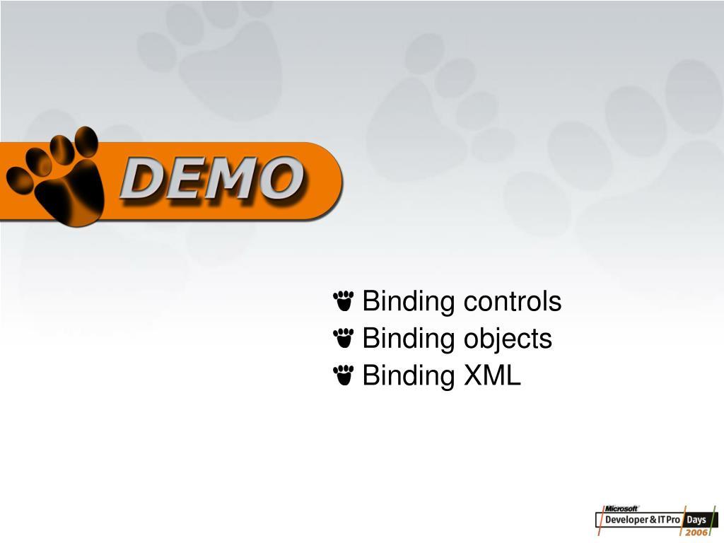 Binding controls