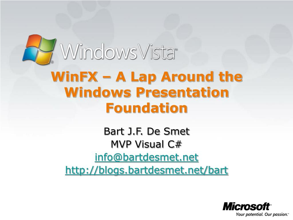 winfx a lap around the windows presentation foundation l.