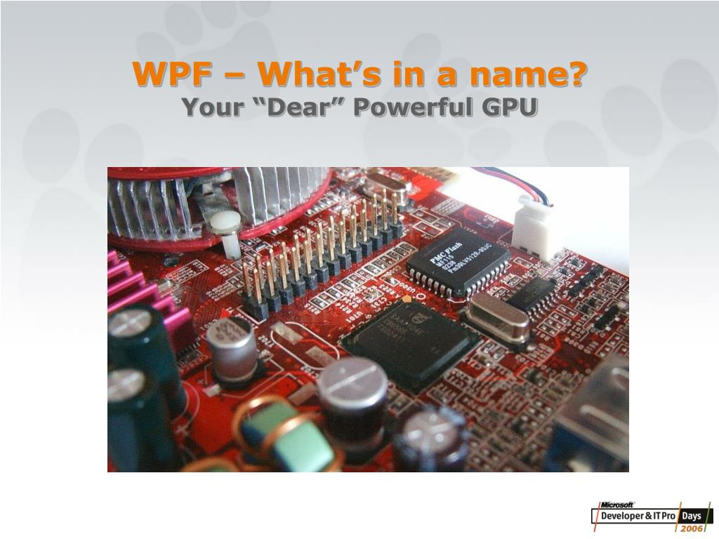 WPF – What's in a name?