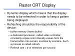 raster crt display