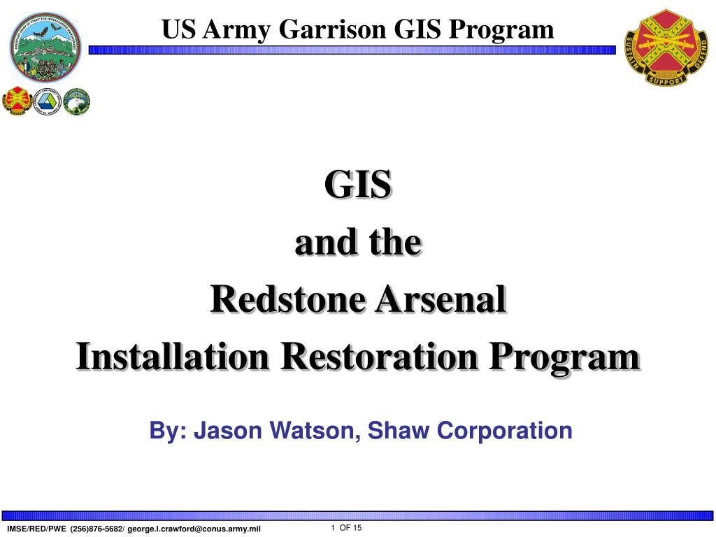 us army garrison gis program l.