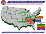 major commands and army headquarters