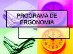 programa de ergonomia