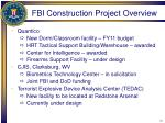 fbi construction project overview