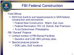 fbi federal construction