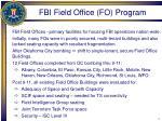 fbi field office fo program