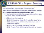 fbi field office program summary