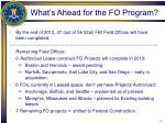 what s ahead for the fo program