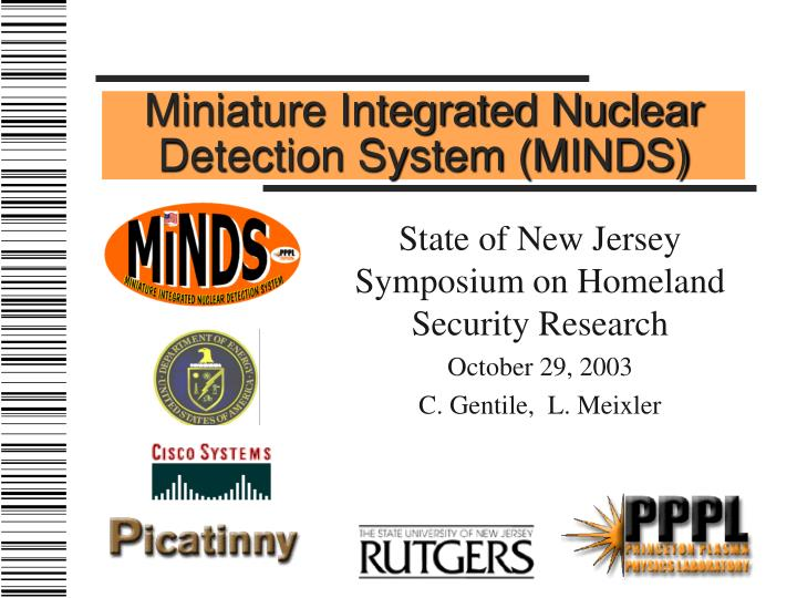 Miniature integrated nuclear detection system minds