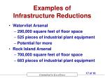 examples of infrastructure reductions