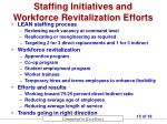 staffing initiatives and workforce revitalization efforts
