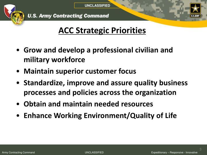 Acc strategic priorities