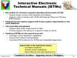 interactive electronic technical manuals ietms