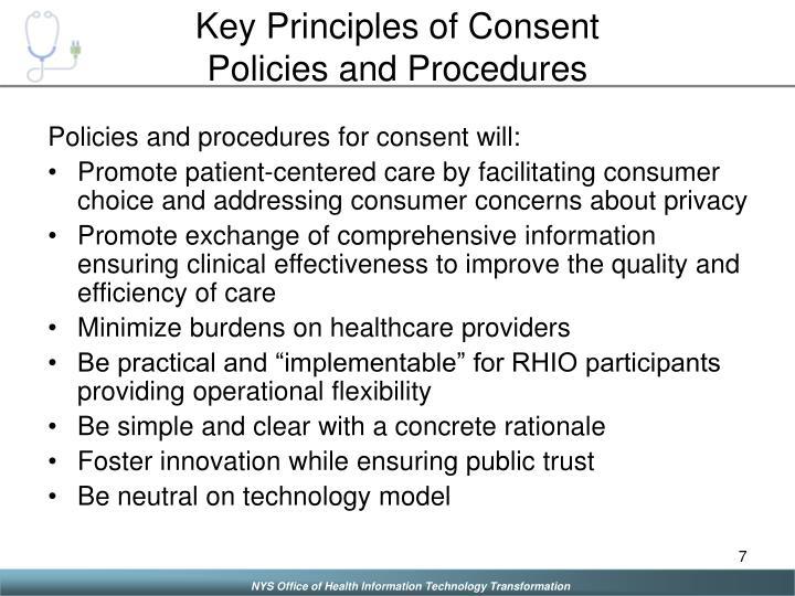 Key Principles of Consent