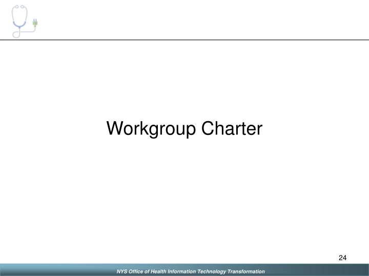 Workgroup Charter