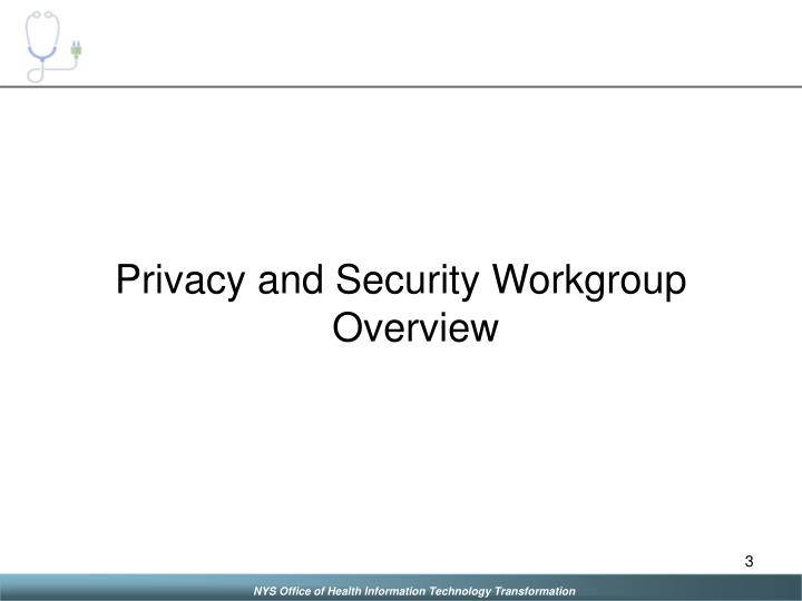 Privacy and Security Workgroup Overview